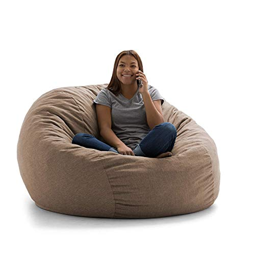 NgMik Faule Sofa-Stühle Sofa Couch Füller Bohnenbeutel Große Bagsack Stuhl Erwachsene Liege Sack Home Wasserdicht Sofa-Sack (Color : Brown, Size : One Size)