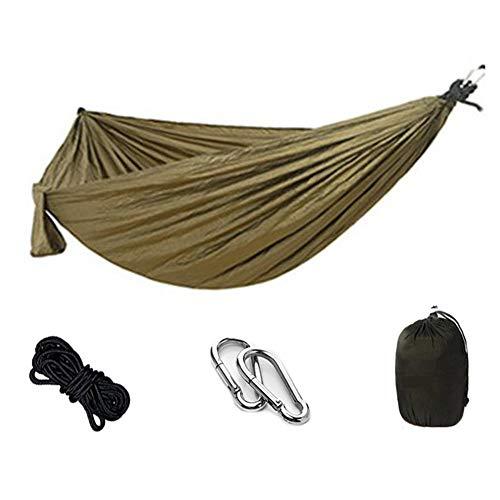 Hebon Hamaca de camping de nailon portátil al aire libre Hamacas de paracaídas para acampar en interiores y exteriores, mochileros, viajes, senderismo, playa