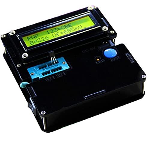 El Transistor Tester Multifuncional Resistor Capacitor Triodo De Medición Electrónica Con Acrílico Shell Negro Transistor Tester Finebrand