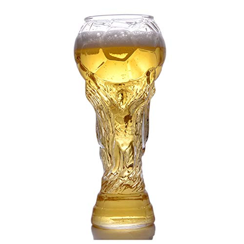 HWY Copas De Vino Tinto Cerveza Creatividad Escultura Copas De Vino Personalizadas para Regalar Fútbol Americano Cristal Copas De Vino 450ml