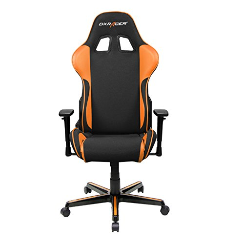 DXRacer OH/FH11/NO Black & Orange Formula Series Gaming Chair Ergonomic High Backrest Office Computer Chair Esports Chair Swivel Tilt and Recline with Headrest and Lumbar Cushion + Warranty chair gaming orange