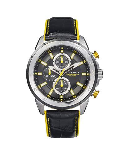 Viceroy 46799-57 Reloj Hombre Cuarzo Crono Acero Aluminio Correa Tamaño 43 mm