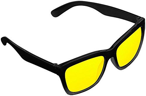 PEARL Nachtbrille: Kontrastverstärkende Nachtsicht-Brille Night Vision im Retro-Look (Nachtsichtbrille Auto)