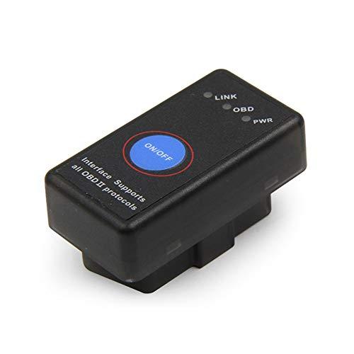 FairOnly ELM327 escáner de diagnóstico de Fallos de Coche con Interruptor OBD2 Bluetooth 4.0 con Diente Azul para Android Apple