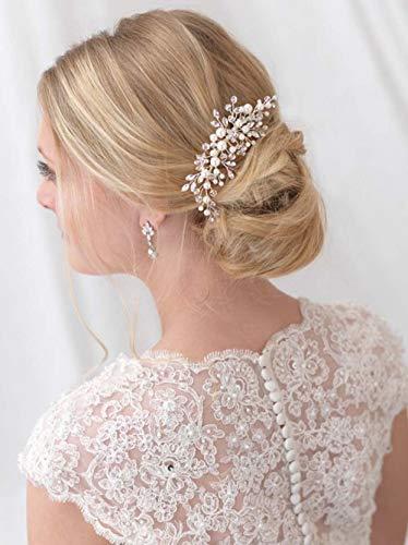 Simsly - Tocado de novia para el cabello, accesorios para el cabello,...