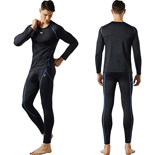 FITEXTREME MAXHEAT Mens Thermal Underwear Long Johns Set with Fleece...