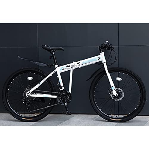 ROYWY Bicicleta Plegable para Adultos, 24 26 Pulgadas Bike Sport Adventure, Bicicleta de montaña prémium para niños, niñas, Hombres y Mujeres -B / D24speed / 26inch