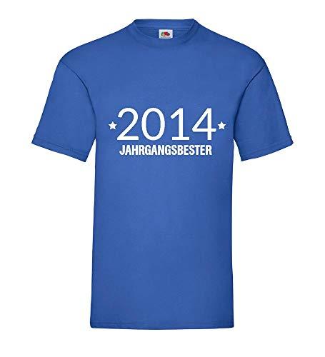 Jahrgangsbester 2014 shirt84.de - Camiseta para hombre azul real XL