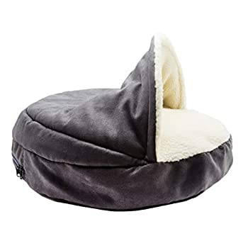 ppaphh Lit Chien Panier pour Chat Indoor Pet House Luxury Dog Bed Kitten Bed Cat Sleeping Bag Pet Beds for Cats Dog Cave Bed Vet Bed for Dogs Dog Sofa Bed Gray