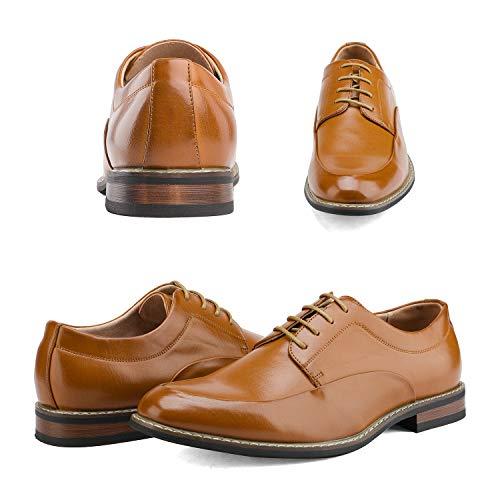 Bruno Marc Men's Prime-1 Brown Leather Lined Dress Oxfords Shoes – 13 M US