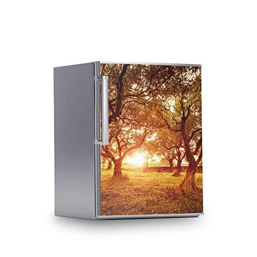 creatisto Kühlschrank Tattoo I Deko für Kühlschrankfront - Folie Sticker abwaschbar I Wandtattoo Küche - Design: Tree Sunlight