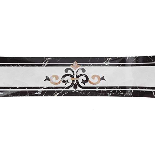 Cikonielf Etiqueta de zócalo Papel Tapiz de PVC Borde de Borde Autoadhesivo Línea de Cintura Que Cubre Impermeable 10x500cm