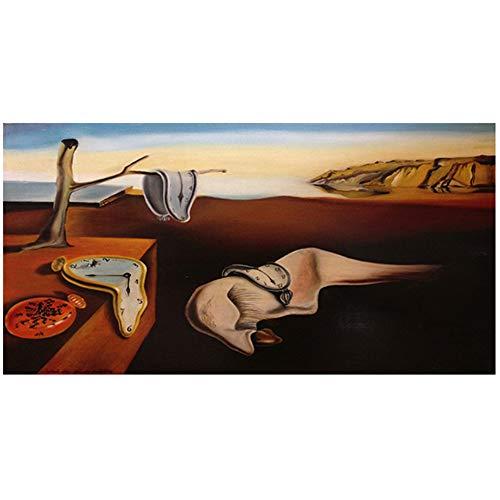 NIEMENGZHEN Druck auf Leinwand Salvador Dali Classic Leinwand Kunstdruck Gemälde Poster Wandbilder für die Inneneinrichtung Wanddekoration 50 x 70 cm (19,6 x 27,5 Zoll) Kein Rahmen A.