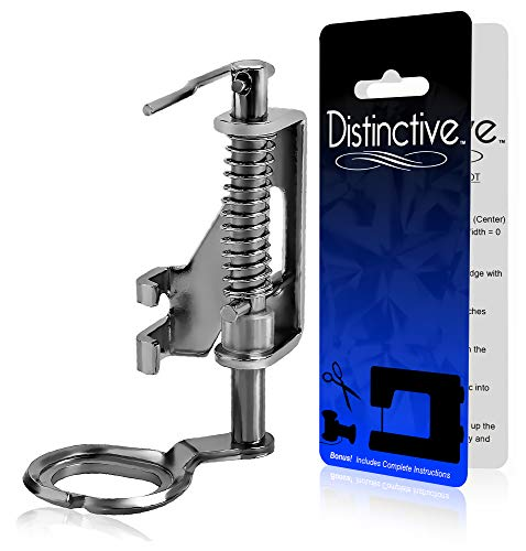 Distinctive Large Metal Darning/Free Motion Sewing Machine Presser Foot - Fits All Low Shank Singer, Brother, Babylock, Euro-Pro, Janome, Kenmore, White, Juki, New Home, Simplicity, Elna and More!