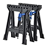 Muscle Rack FSHL-2PK Heavy Duty Folding Sawhorses, Plastic