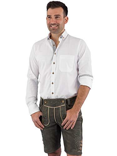 Arido Trachtenhemd 2436 3607 weiß grau 38