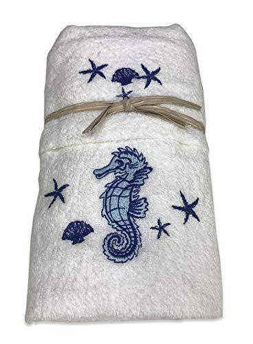 Tex family Handtuch-Set Meerespferd weiß