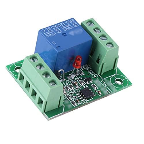 MaylFre Canal de relé Solo módulo DC 12V biestable Circuito de Disparo del Interruptor de Control para el hogar Electrodomésticos Junta