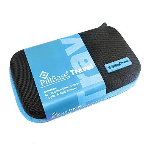 PILLBASE Travel Botiquín de Viaje para tabletas, Almacenamiento de Viaje, Organizador de píldoras portátil y móvil, Bolsa de Primeros Auxilios, Medicina, vitaminas Pillen, Kit de Emergencia