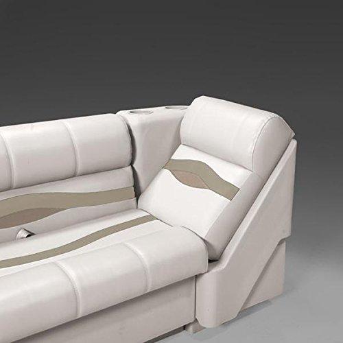 DeckMate Premium Left Pontoon Lean Back Seats (Ivory/Tan/Beige)