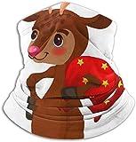 Linger In Nettes Rentier mit Weihnachtskugeln auf Hörnern Halswärmer Kopfbedeckung Gesicht Schal Unisex