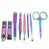 CortauñasCorta Uñas 8/18 PCS Multifunción de acero inoxidable herramienta de corte de uñas...
