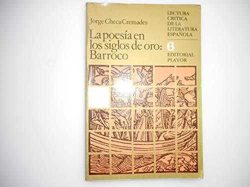 La poesía en los siglos de oro : barroco