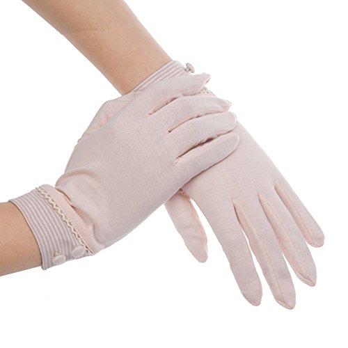Kenmont Damen Sommer-Handschuhe Baumwolle Sonnenschutz UV für Draußen Autofahrer-Handschuhe Gr. One size, Rose