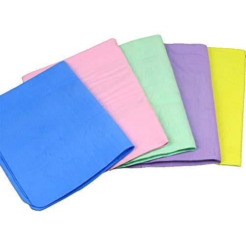 SHENMU 5 Pc Auto Reinigung und Pflege Handtuch Synthetische Lederwaren Tuch-Tuch Absorber Autowasch Haar trocken - 33x43cm zufällige Farbe