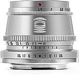 TTArtisan 35mm F1.4 Objetivo Fija de Enfoque Manual, Compatible con cámaras Nikon Z-Mount Z5 Z6 Z6II Z7 ZFC sin Espejo (Silver)