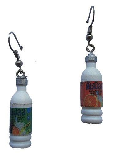 Ohrringe Stecker Ohrstecker handgemachte Flasche Saft *1276*