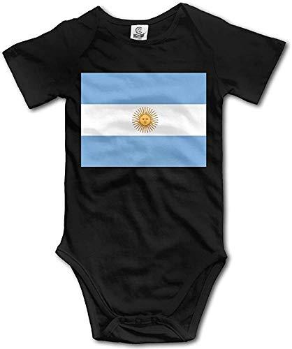 Bandera de Argentina Divertido bebé Onesies Ropa Infantil Niños Niñas Mono Mono Mamelucos Trajes de bebé