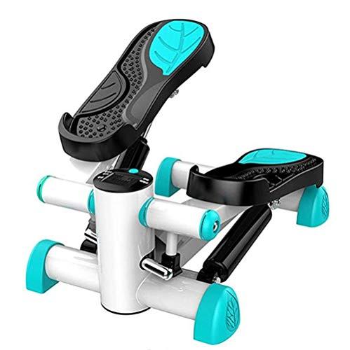 QHGao Mini Stepper con indicador LED, pequeño y compacto, incluye pedales de PVC de gran potencia y tamaño Capacidad de carga: 125 kg.