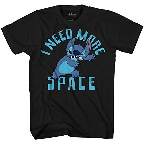 Lilo & Stitch Need Space Ohana Filme Disneyland World Camiseta masculina divertida para adultos, Preto, S