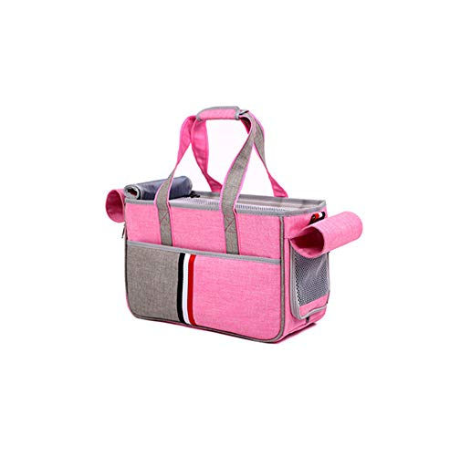 Aida Bz Pet Bag Dog Out Sac Petit Pet Bag Sac de Chat Multi Pet Sac à Dos Pet Fournitures Pet Out Portable Sac à Dos,Pink,L