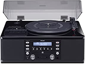 Teac LPR660USBPB LP-Cassette to CD Recorder/USB Home Theater Receiver, Black