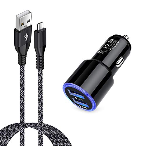 Fast Car Charger with Android Micro USB Cable Compatible for Motorola Moto...