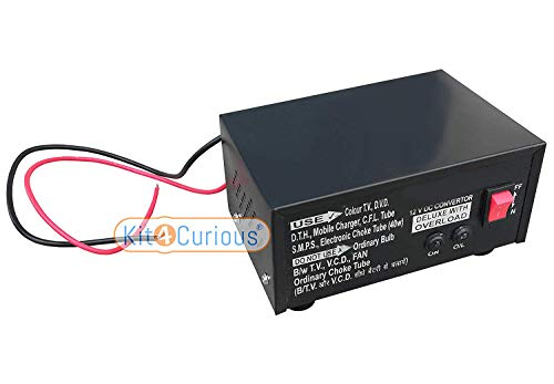Kit4Curious 12V 100 Watts Converter for DC/Battery to AC