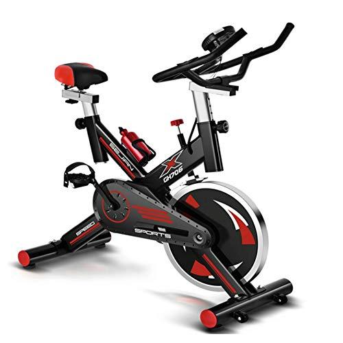 YBZS Bicicleta Estática, Bicicleta Estática Giratoria Ajustable Silenciosa para El Hogar, Pantallaque Muestra La Velocidad, El Tiempo/Calorías Quemadas/Distancia Recorrida, Sillín Deportivo Aj