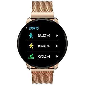 Smartwatch Fashion para Hombre Mujer Impermeable Reloj Inteligente Monitores de Actividad Fitness Tracker con Monitor de… 8
