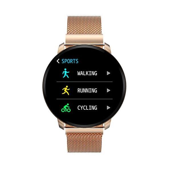 Smartwatch Fashion para Hombre Mujer Impermeable Reloj Inteligente Monitores de Actividad Fitness Tracker con Monitor de… 1