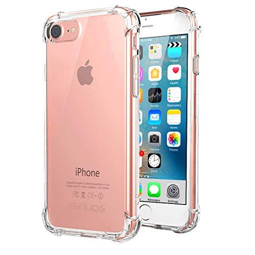 """Jenuos Coque Compatible avec iPhone 8 / 7 / SE 2020, Transparent Souple Extrêmement Antichoc Bumper Housse TPU Silicone Etui pour iPhone 7/8/SE 2020 4.7""""(7G-TPU-CL)"""
