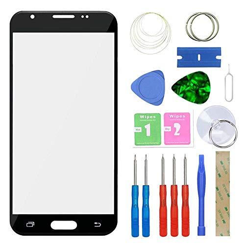 MovTEK Kit de Remplacement de Ecran Tactile Vitre Avant pour Samsung Galaxy J3 J330 2017 Lentille Extérieur Verre avec l'outil de séparation Noir