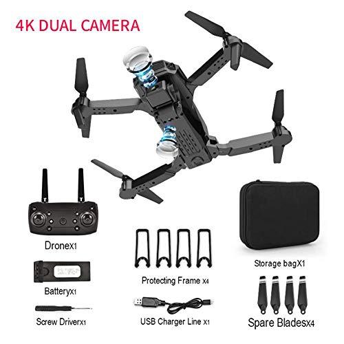 Lvhan Mini Drohne - GPS Drohne Faltbare,4K 1080P E100 Drohne mit Doppelkamera und Gestensteuerung