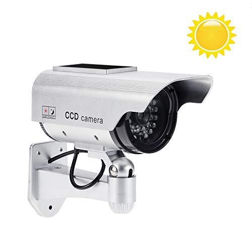 KKmoon Dummy Überwachungskamera Regensichere Solarbetriebene Drahtlose Steuerung mit LED-Licht für den Innen- und Außenbereich
