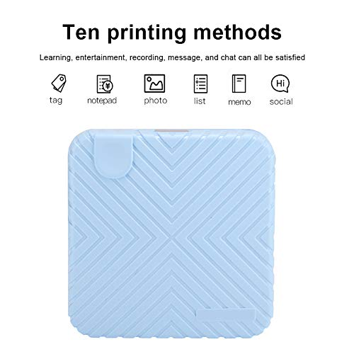Impresora Térmica, 203DPI Photo ABS + PC 58mm Bluetooth Impresión Manual Desgarro Impresora Térmica…
