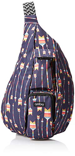 Ambry Rope Sling Bag, Backpack for Women – Canvas Crossbody Shoulder Sling for Travel, Commuting and Hiking