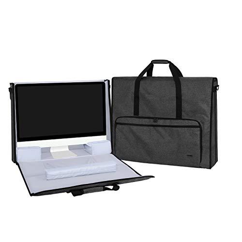Teamoy Bolsa para Apple iMac 21.5 Pulgadas, Organizador para iMac 21.5', Almacenamiento para iMac 21.5 Pulgadas y Otros Accesorios, con Tirantes, Negro
