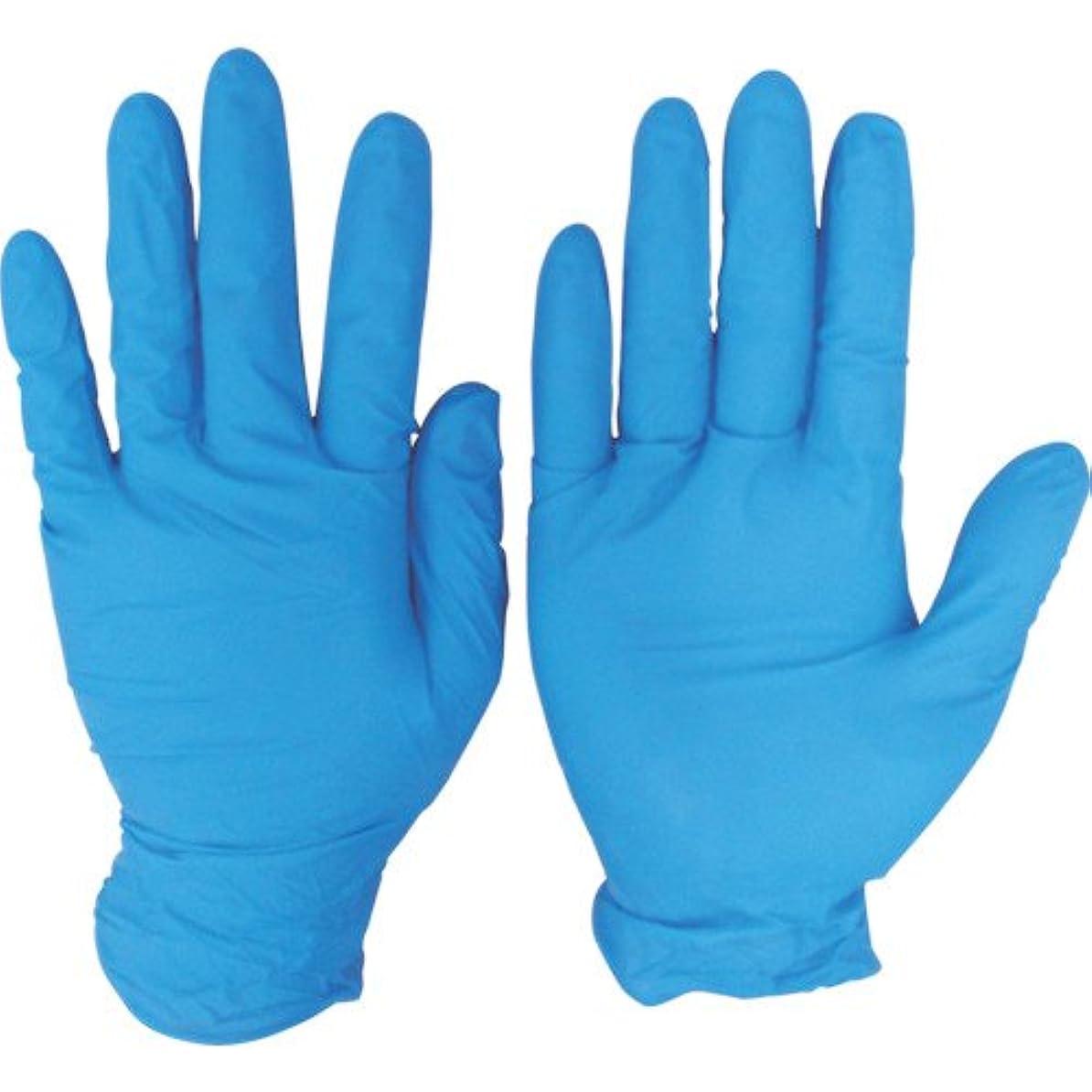 インレイ洞察力のあるブレイズシンガー ニトリルディスポグローブ(手袋) No.810 ブルー パウダーフリー(100枚) M