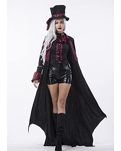 YTRDKJSW Halloween Couples Costume – Men and Women Vampire Costume for Couples – Vampiress Black,Meduim Female